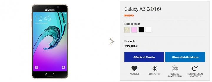Imagen - Samsung Galaxy A (2016) en color pink gold ya disponible en España