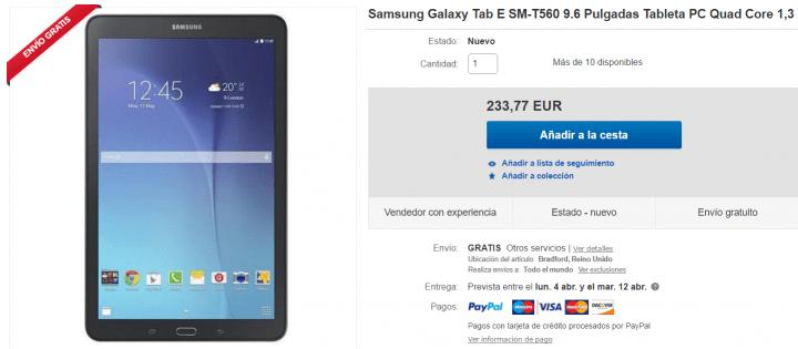 Imagen - 5 tiendas dónde comprar la Samsung Galaxy Tab E
