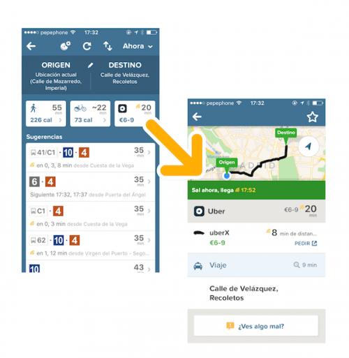 Imagen - Citymapper integra Uber