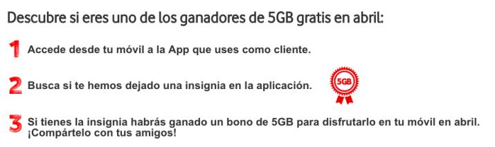 Imagen - Vodafone regala 5GB a muchos clientes, ¿a ti?