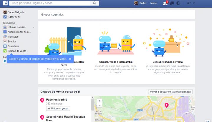 Imagen - Facebook lanza Grupos de Venta, para comprar o vender a personas cerca de ti
