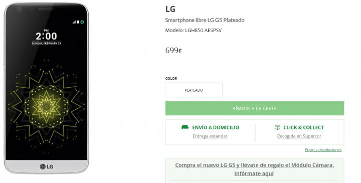Imagen - 5 tiendas dónde comprar el LG G5