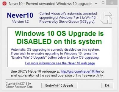 Imagen - Never10, la app para nunca actualizar a Windows 10