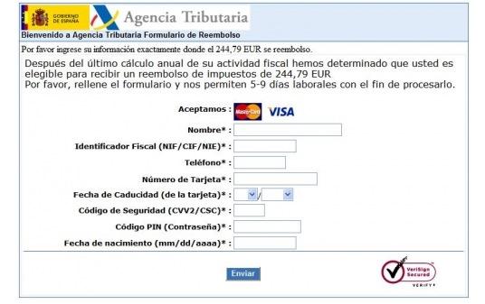 Imagen - Se extiende un nuevo phishing de la declaración de la Renta