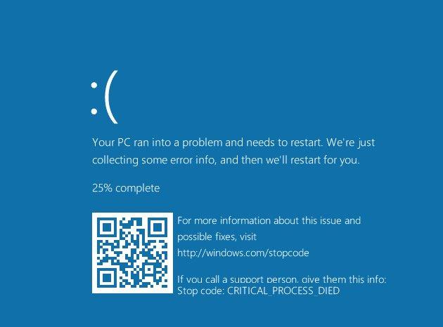 Imagen - Los pantallazos azules de Windows 10 mostrarán códigos QR