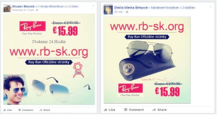 Imagen - Cuidado con las ofertas de gafas Ray-Ban en Facebook