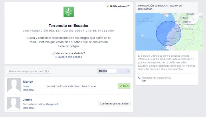 Imagen - Facebook activa Safety Check en el terremoto de Ecuador