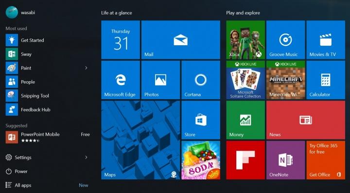 Imagen - Windows 10 Anniversary muestra cómo será su menú Inicio