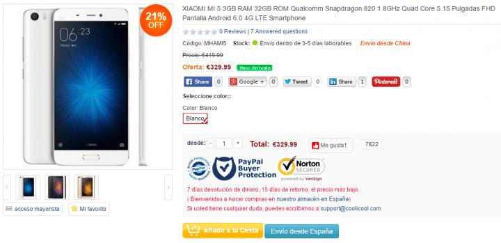 Imagen - 7 sitios para comprar el Xiaomi Mi5 desde España