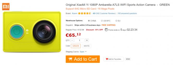 Imagen - Dónde comprar la Xiaomi Yi Action