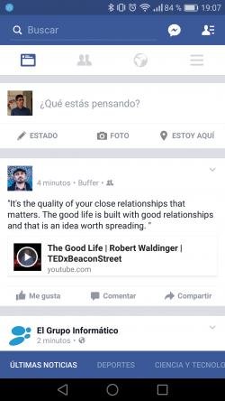 Imagen - Cómo quitar la barra azul inferior en la app de Facebook