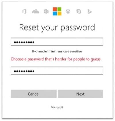 Imagen - Microsoft no dejará utilizar contraseñas sencillas