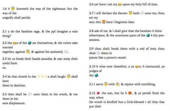 Imagen - La Biblia se traduce a emojis