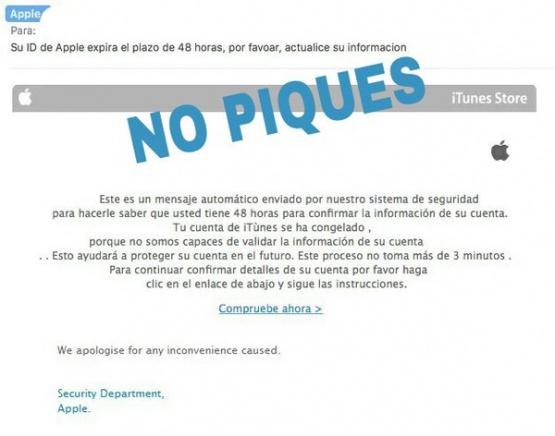 Imagen - Cuidado con los emails de Apple que aseguran que bloquean tu cuenta
