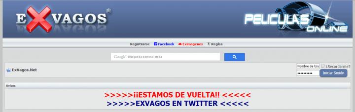Imagen - Exvagos vuelve bajo el dominio .net