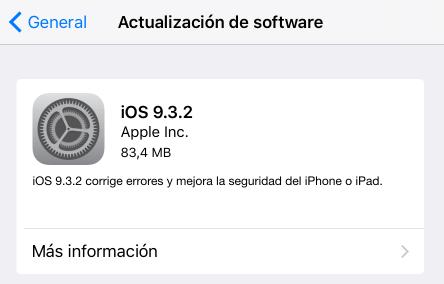 Imagen - iOS 9.3.2 llega con activar el modo noche y modo de bajo consumo simultáneo