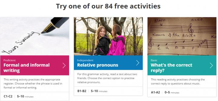 Imagen - Cambridge Learning English: 84 actividades gratuitas para aprender inglés online