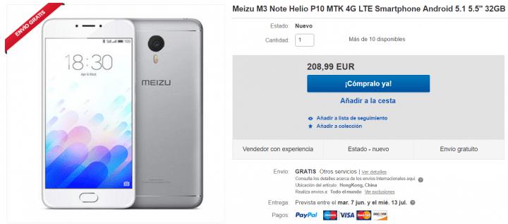 Imagen - Dónde comprar el Meizu M3 Note