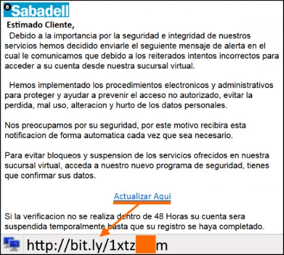 Imagen - Falsos correos de Sabadell pretenden robar tu dinero