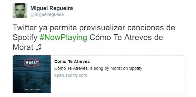 Imagen - Twitter ya permite escuchar Spotify directamente en tweets
