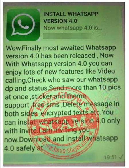 Imagen - WhatsApp 4.0, la nueva falsa versión de WhatsApp