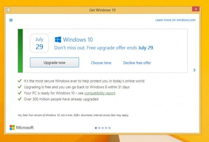 Imagen - Así será el nuevo aviso que permite cancelar la actualización a Windows 10