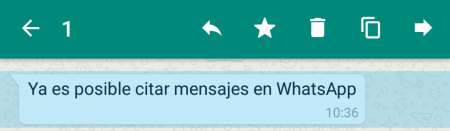 Imagen - Ya es posible citar mensajes en WhatsApp