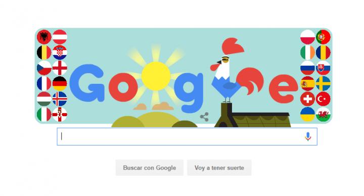 Google celebra el inicio de la Eurocopa 2016 con un Doodle