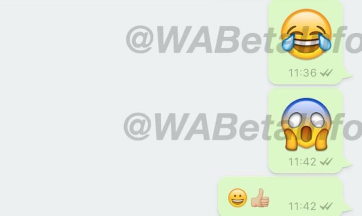 Imagen - WhatsApp soportará emojis gigantes, contestador y menciones