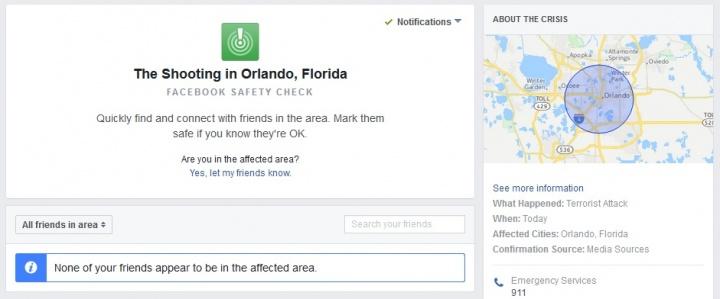 Imagen - Facebook activa el Safety Check por el atentado de Orlando