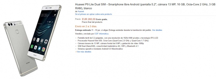 Imagen - Oferta: Huawei P9 Lite por solo 260 euros
