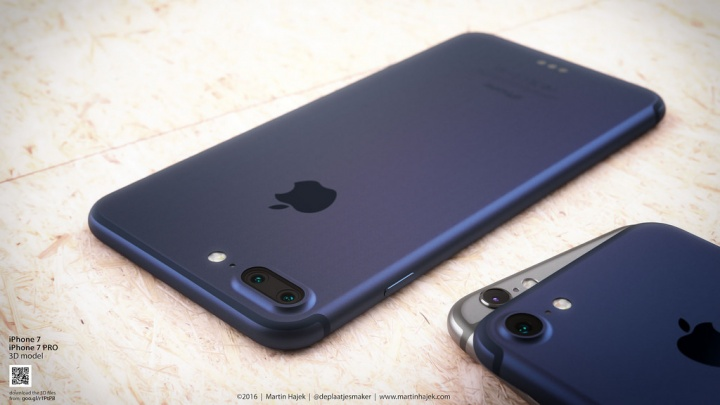 Imagen - Un concepto del iPhone 7 en azul muestra cómo sería el favorito