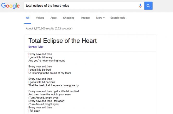 Imagen - Google mostrará letras de canciones directamente en el buscador