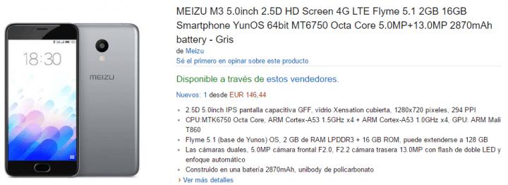 Imagen - Dónde comprar el Meizu M3