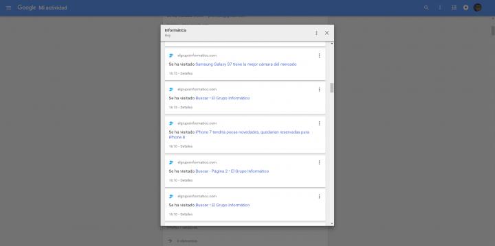 Imagen - Mi Actividad, la página que te enseña todo lo que Google sabe de ti