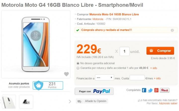 Imagen - Dónde comprar el Moto G4