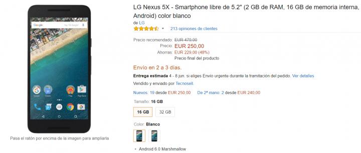 Imagen - Nexus 5X en oferta por tan solo 250 euros