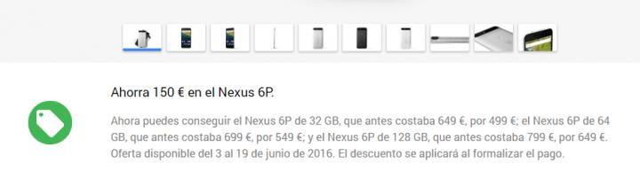 Imagen - Nexus 6P con descuento de 150 euros en Google Play Store