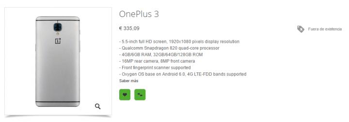 Imagen - Oneplus 3, filtrado con todos los detalles