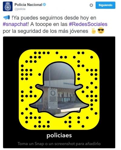 Imagen - La Policía española estrena cuenta en Snapchat