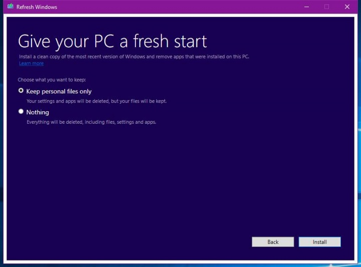 Imagen - Refresh Windows Tool, la herramienta para instalar desde cero Windows 10