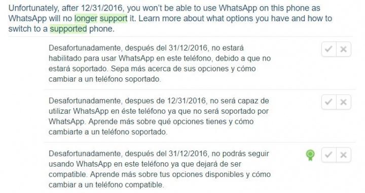 Imagen - WhatsApp no funcionará en algunas versiones de iOS