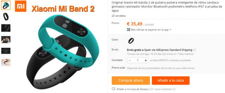Imagen - 5 tiendas dónde comprar la Xiaomi Mi Band 2