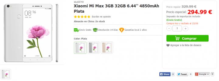 Imagen - Conoce que tiendas venden el Xiaomi Mi Max
