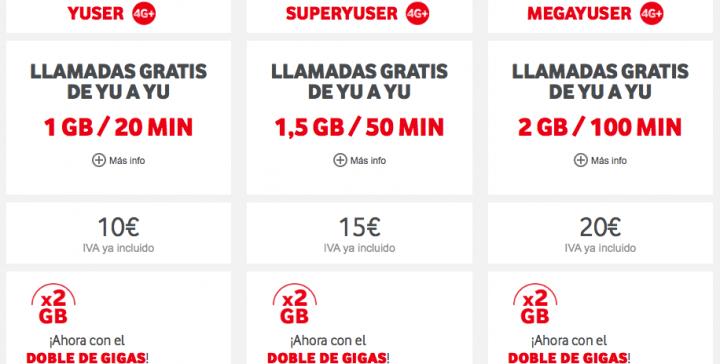 Imagen - Vodafone duplica tus gigas si eres prepago o contratas durante este verano