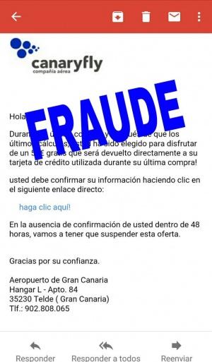 Imagen - Cuidado con los falsos correos de Canaryfly