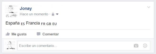 """Imagen - ¿Qué significan """"FR"""", """"ES"""" y otras iniciales que aparecen en publicaciones de Facebook?"""