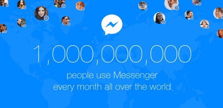 Imagen - Facebook Messenger supera los 1.000 millones de usuarios al mes