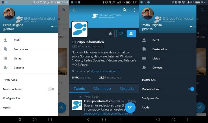 Imagen - Twitter ya cuenta con modo nocturno automático