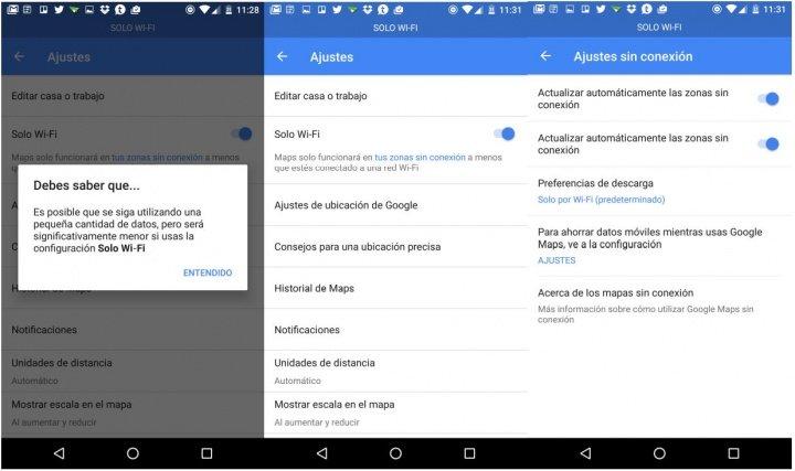 Imagen - Google Maps añade el modo solo Wi-Fi